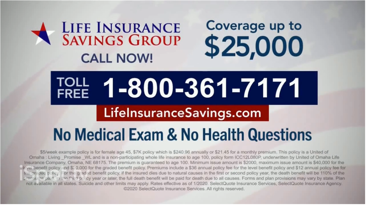 screenshot from life insurance savings group commercial